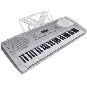 vidaXL Piano Teclado Eléctrico 61 Teclas com Tripé