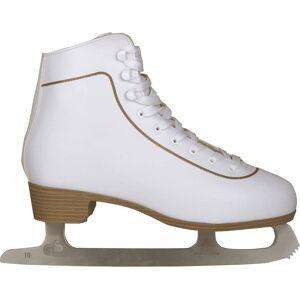 Nijdam Patins patinagem art. clássicos mulher, couro, 37, 0043-WIT-37