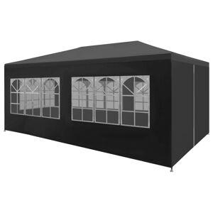 vidaXL Tenda para festas 3x6 m antracite
