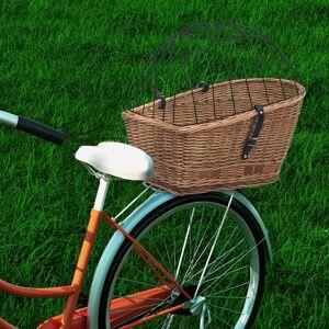 vidaXL Cesto traseiro para bicicleta 55x31x36 cm salgueiro genuíno