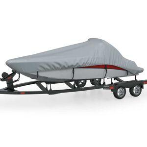 vidaXL Cobertura de barco, cinza, comprimento 519-580 cm, largura 244 cm