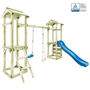 vidaXL Casa brincar + escada escorrega baloiço 300x197x218 cm madeira