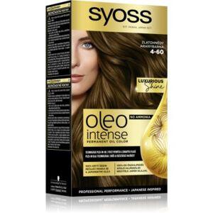 Syoss Oleo Intense cor para cabelo permanente com óleo tom 4-60 Gold Brown. Oleo Intense