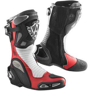 Arlen Ness Xaus Replica Botas de moto Preto Branco Vermelho 47