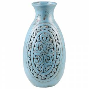 Vaso decorativo azul MEGARA
