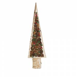Figura decorativa árvore de natal castanha clara TOLJA