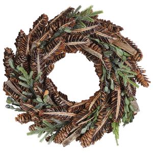 Grinalda decorativa ⌀ 35 cm castanho KAAVI