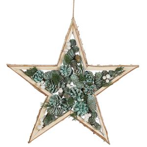 Decoração de parede estrela verde HOSIO