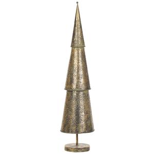 Figura decorativa árvore de natal dourada 114 cm KEMI