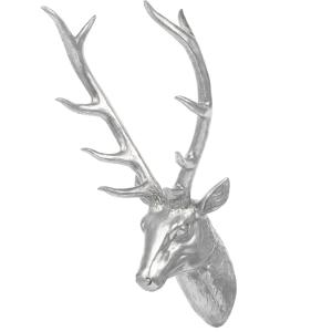 Estatueta decorativa 67 cm prateada DEER HEAD