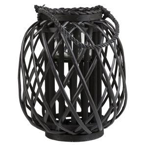 Lanterna decorativa 30 cm preta MAURITIUS