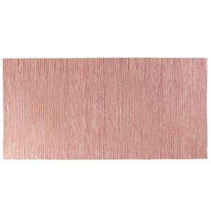 Beliani Tapete de algodão - Vermelho - 80 x 150 cm - Feito à mão - DERINCE