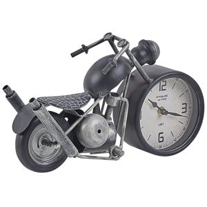Relógio de mesa preto e prateado 30 cm BERNO