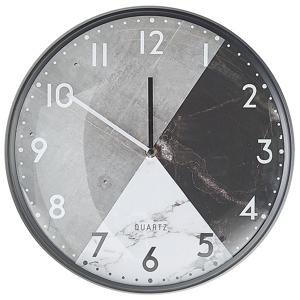 Relógio de parede cinzeto e preto ø 33 cm DAVOS