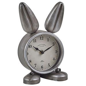 Relógio de mesa prateado 24 cm THUSIS