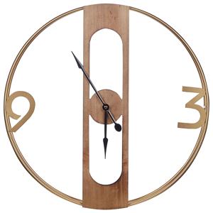 Relógio de parede castanho claro ø 50 cm MULHOUSE