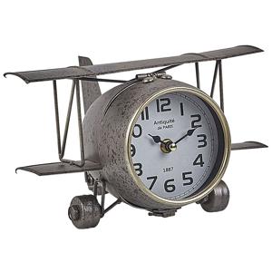 Relógio de mesa prateado 15 cm STANS