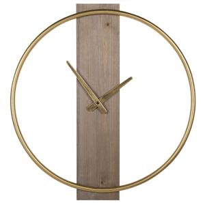 Relógio de parede castanho claro e dourado ø 47 cm CASITAS
