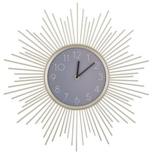 Relógio de parede dourado e cinza ø 45 cm SOLURA