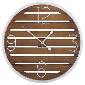 Relógio de parede castanho escuro ø 50 cm ARRIAGA