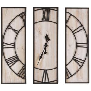 Relógio de parede castanho claro 75 x 75 cm COATLAN