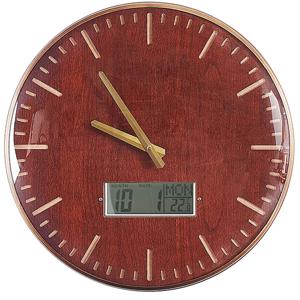 Relógio de parede castanho dourado ø 43 cm BRUGG