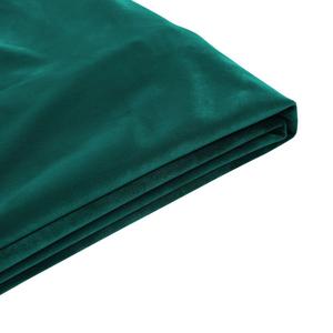 Capa em veludo verde escuro para a cama 160 x 200 cm FITOU