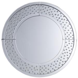 Espelho de parede ø 70 cm prateado BOURGES