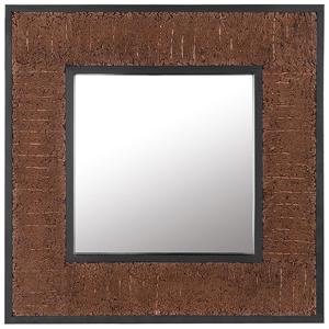 Espelho de parede em madeira escura 60 x 60 cm BOISE