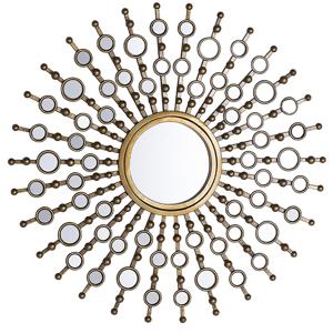Espelho de parede ø 70 cm dourado BLOIS