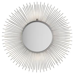 Espelho de parede ø 80 cm prateado CILLY