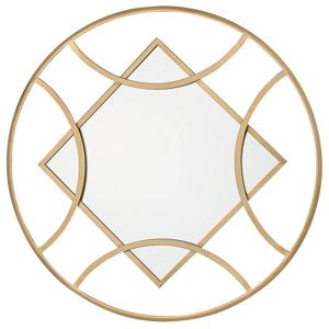 Espelho de parede 65 x 82 cm dourado TANNA