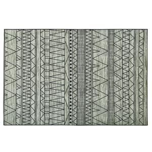 Tapete de poliéster 160 x 230 cm preto e cinza KEBAN