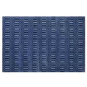 Tapete em viscose 140 x 200 cm azul marinho ADATEPE