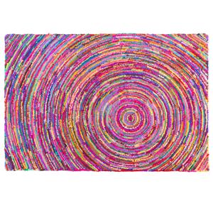 Tapete com padrão redondo de várias cores