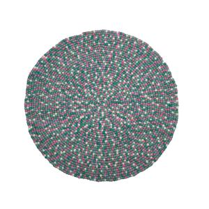 Tapete circular verde e rosa ø 140 cm AMDO