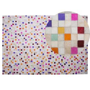 Tapete em pele genuína 140 x 200 cm multicolor ADVAN