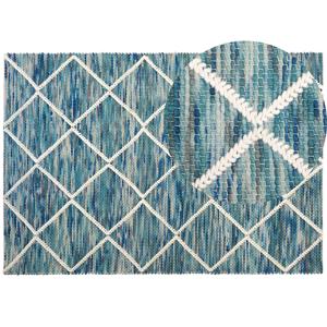 Tapete de lã 160 x 230 cm azul BELENLI