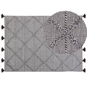 Tapete de algodão 140 x 200 cm castanho TUZLA