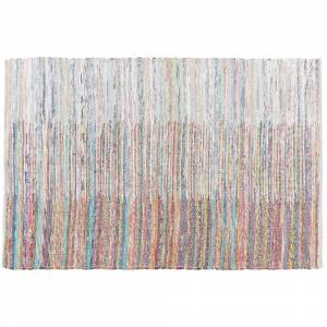 Tapete de algodão 140 x 200 cm multicolor MERSIN