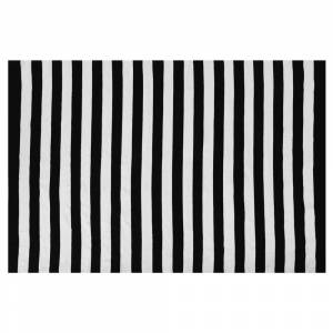 Tapete de exterior 140 x 200 cm preto e branco TAVAS