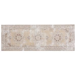 Tapete de algodão 60 x 180 cm bege ALMUS