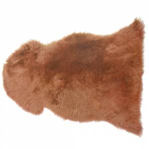 Pele de ovelha marrom claro ULURU