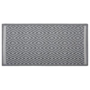 Tapete de exterior cinza 90 x 150 cm SIKAR