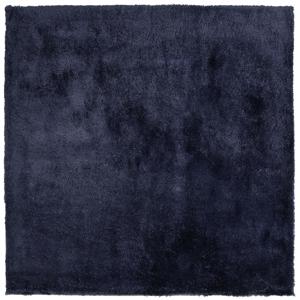 Tapete de poliéster 200 x 200 cm azul escuro EVREN