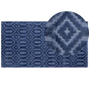 Tapete em viscose 80 x 150 cm azul marinho ADATEPE
