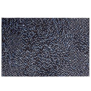 Tapete em pele genuína 140 x 200 cm castanho e violeta IKISU