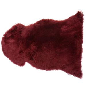 Pele de ovelha vermelho escuro ULURU