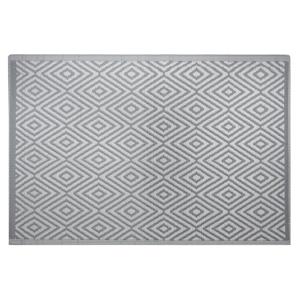 Tapete de exterior em cinza escuro 120 x 180 cm SIKAR