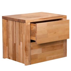 Mesa de cabeceira de madeira - 2 Gavetas - CARRIS ARRAS